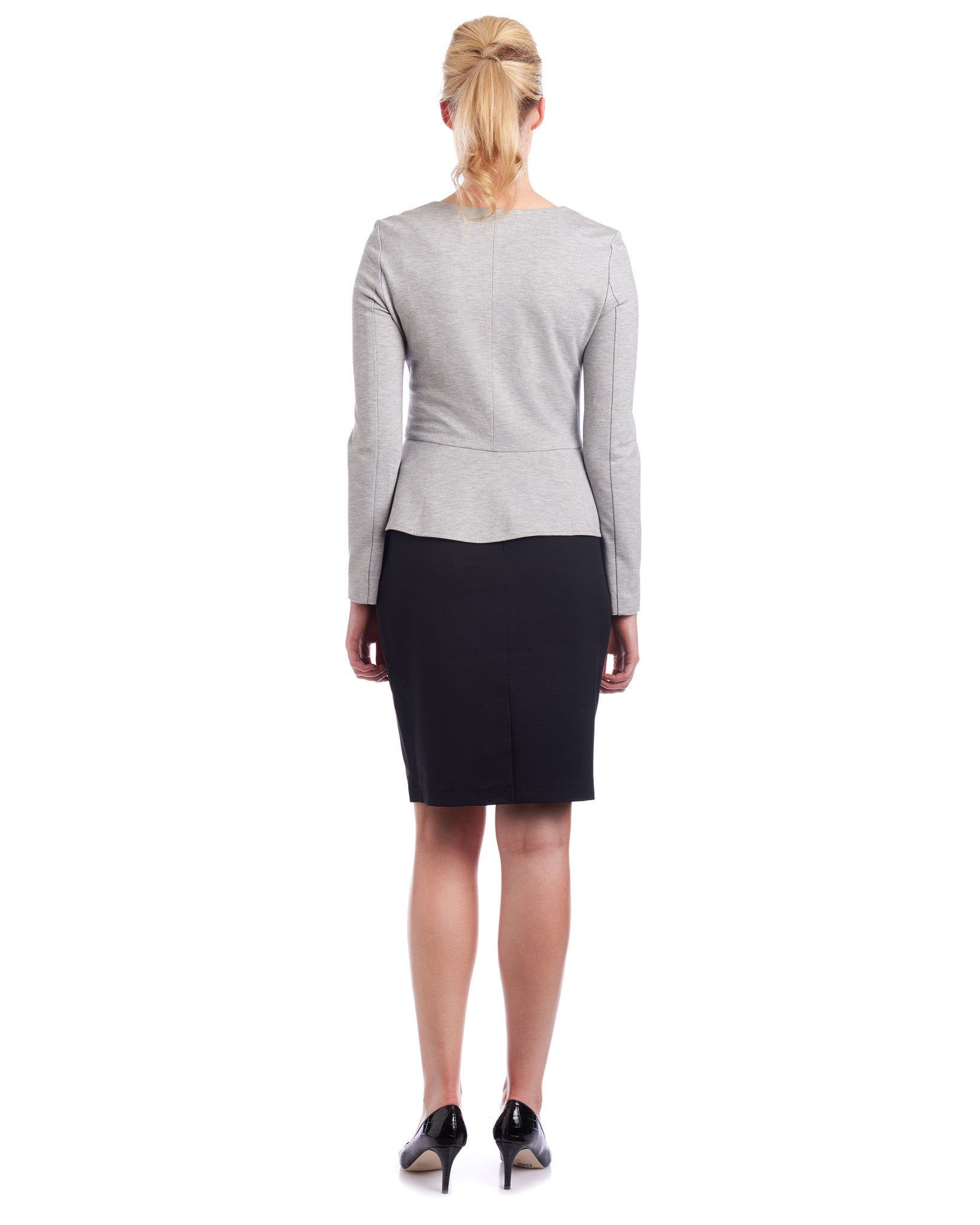 Peplum jacket with stretch for added comfort