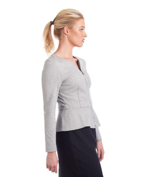 Tahlo: Peplum jacket can help hide a bigger tummy