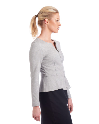 Finish off your work outfit with Tahlo's peplum jacket