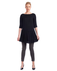 Drop waist tunic with boat neck