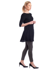 Drop waist tunic with customisable sleeve length