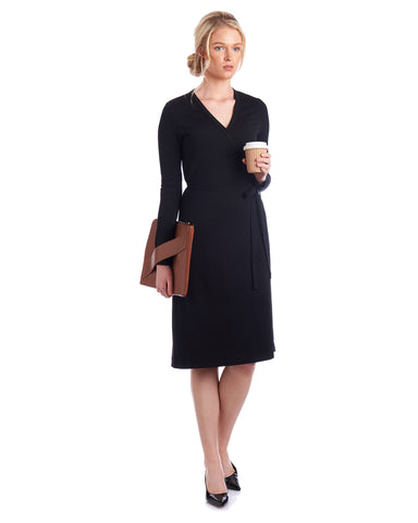 Tahlo classic wrap dress will become a staple in your wardrobe.