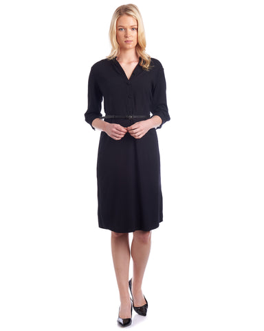 Black shirt dress by Tahlo