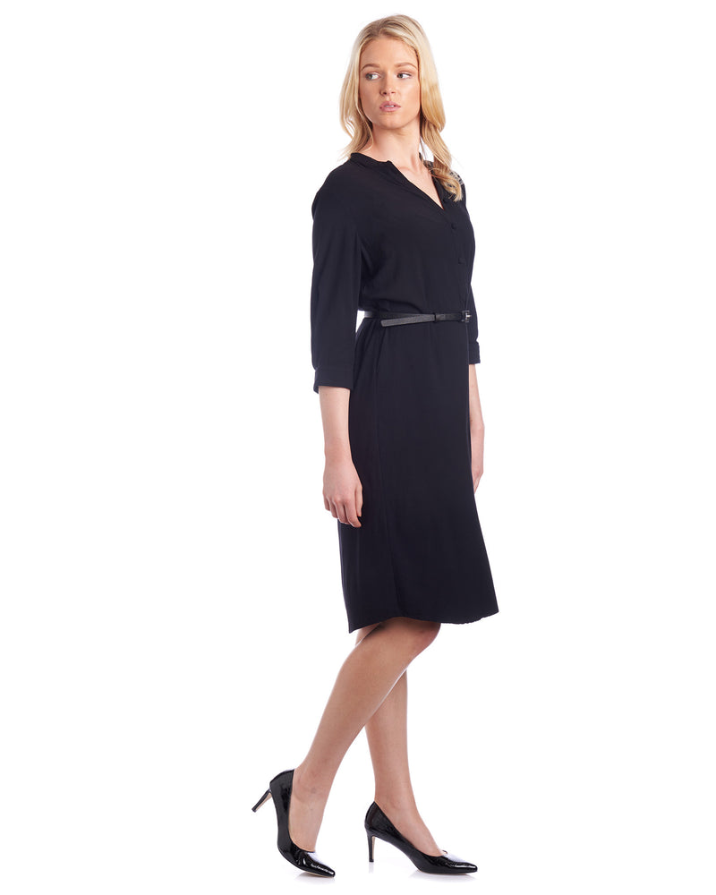 The perfect black shirt dress for your work wardrobe by Tahlo