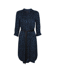 Tahlo print silk shirt dress