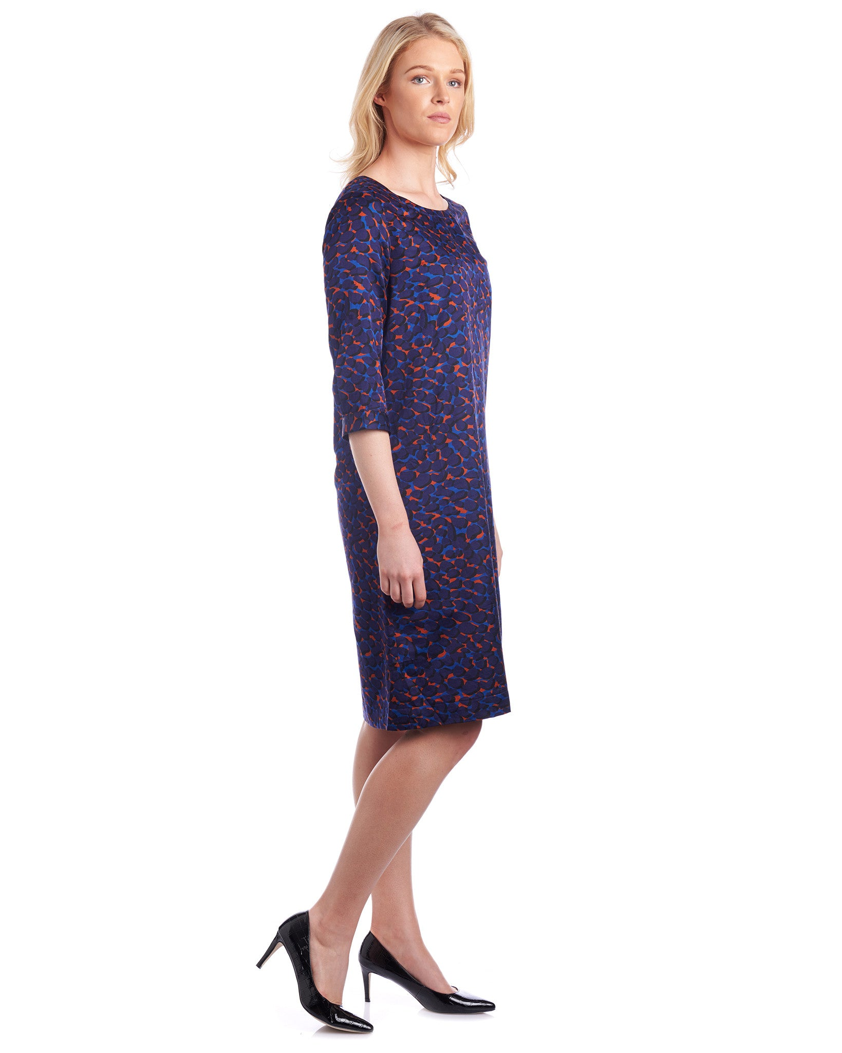 Silk dress with limited edition prints can be worn as a shift dress