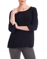 Black silk blouse can be customised to suit your body shape