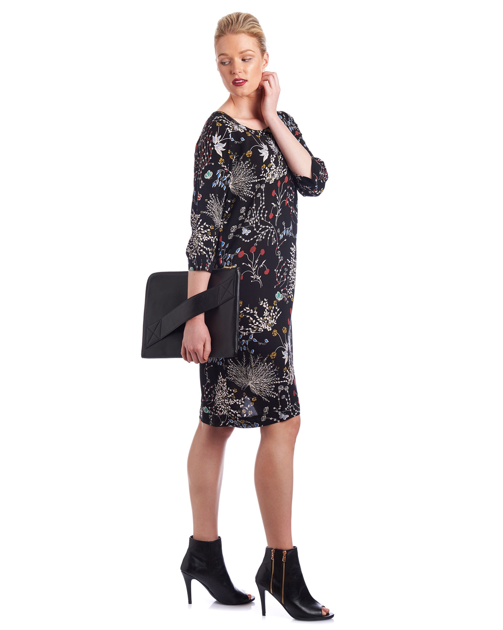 Keyhole shift dress with Tahlo limited edition prints