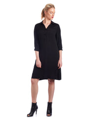 Relaxed fit shirt dress can be customised to suit your body shape.