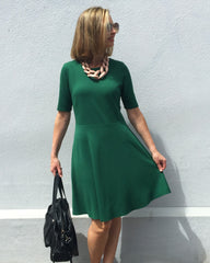 Accessorise your fit & flare dress to dress it up or down to suit the occasion.