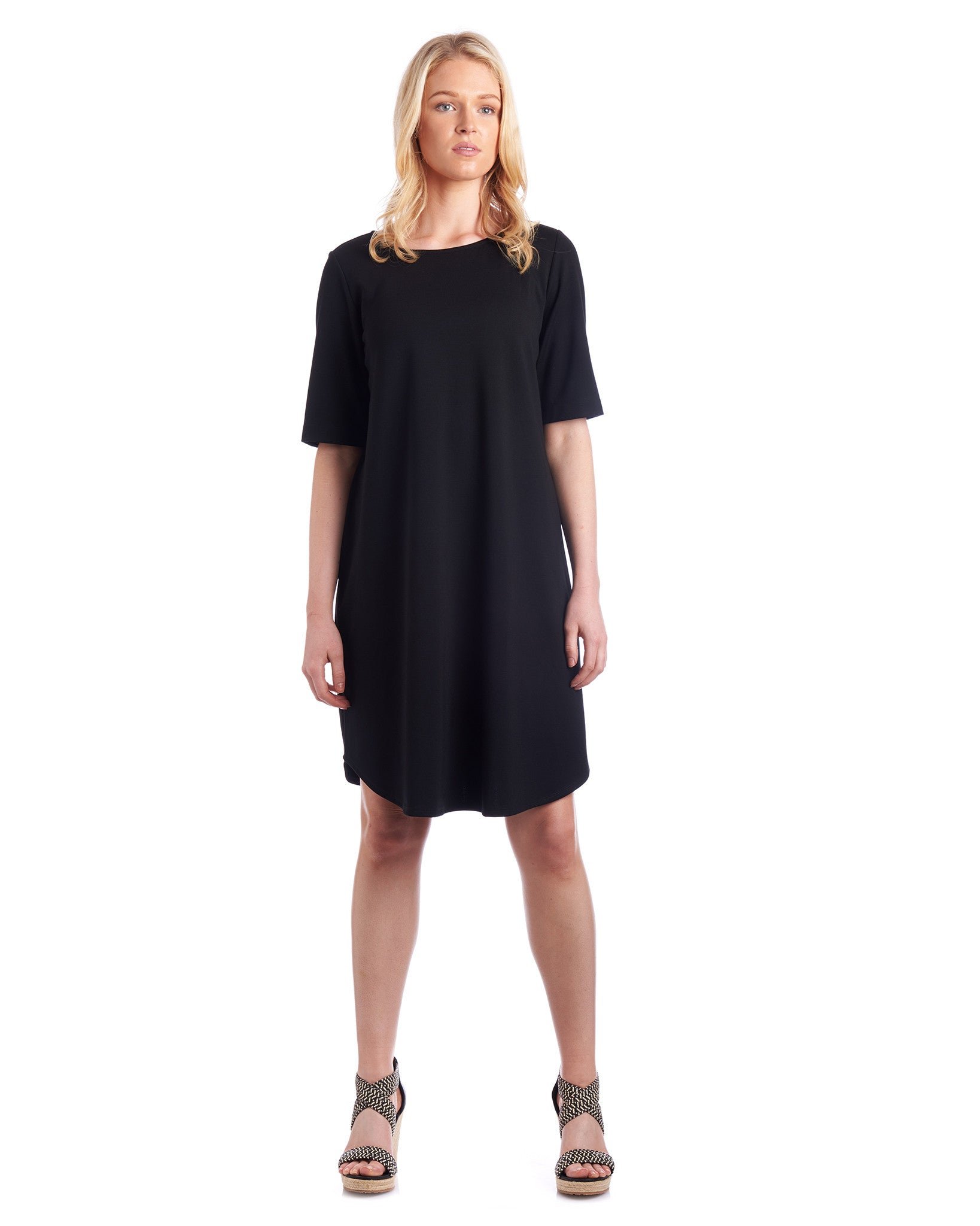 Relaxed fit t-shirt dress can be customised in length to wear as a top as well.