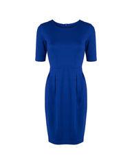 Cobalt blue tulip dress. Custom the sleeves and dress length by Tahlo.