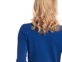 Tahlo's blue drape jersey knit gives your work wardrobe a shot of colour