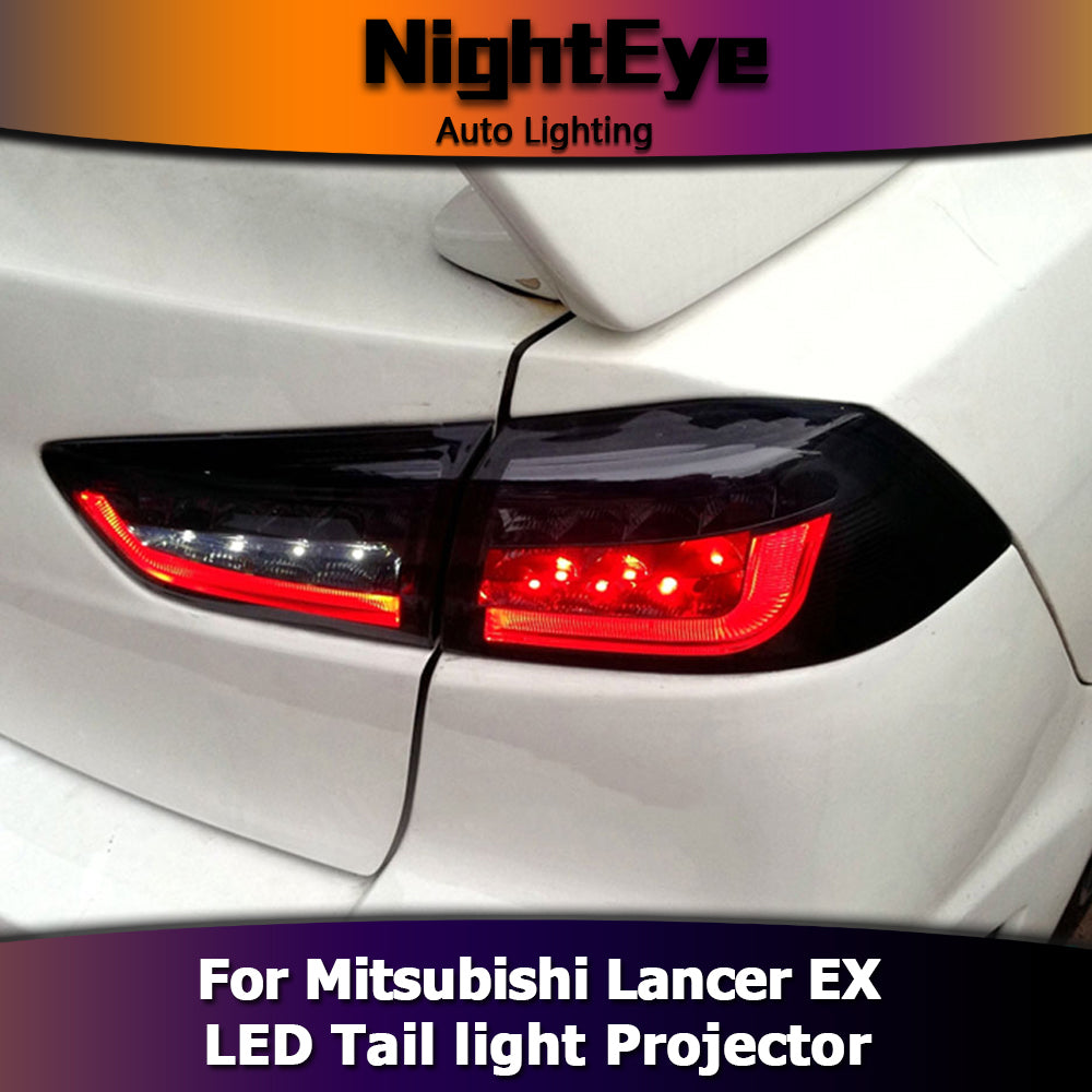 NightEye Car Styling Tail Lamp for Mitsubishi Lancer EX Tail Lights Lancer LED Tail Light BMW Design Rear Lamp DRL+Brake+Park+Signal
