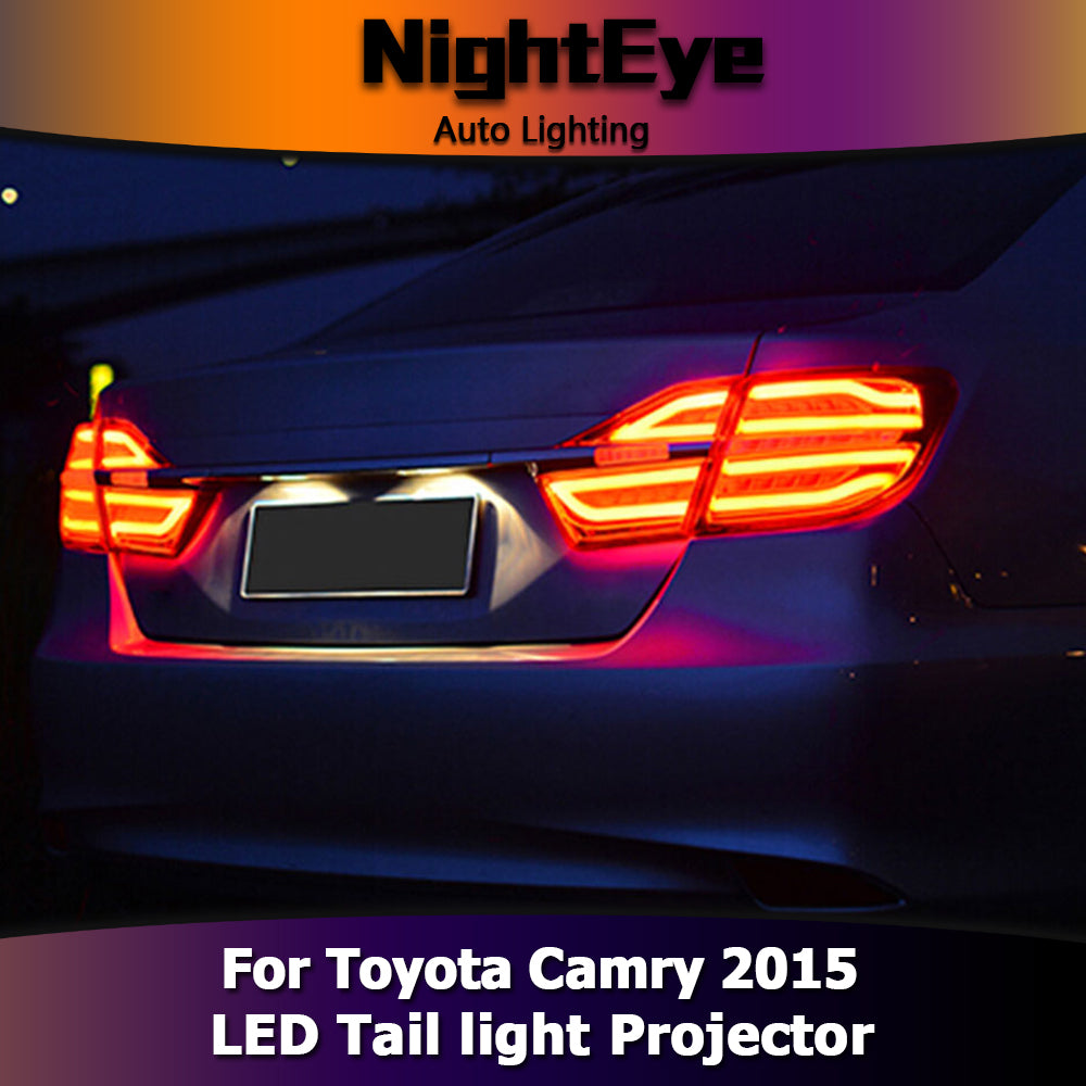 NightEye Car Styling for Camry Tail Lights 2015 New Camry V55 LED Tail Light Rear Lamp DRL+Brake+Park+Signal