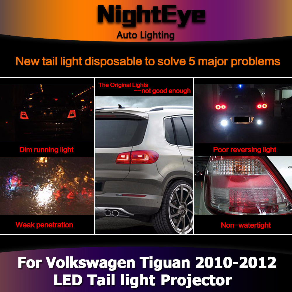 Nighteye Vw Tiguan Tail Lights 2010 2012 Tiguan Led Tail Light