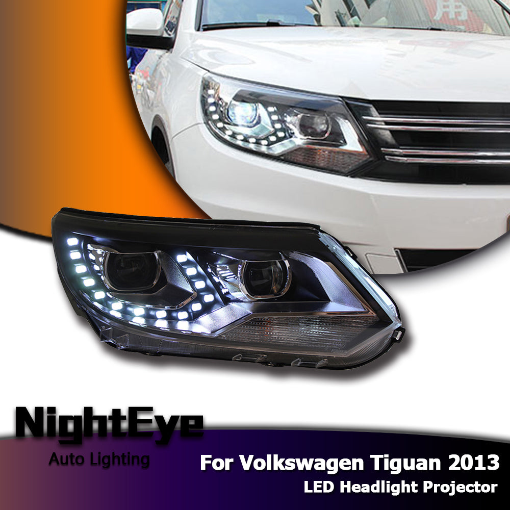 Nighteye Vw Tiguan Headlights 2013 New Tiguan Led Headlight Led Drl Bi