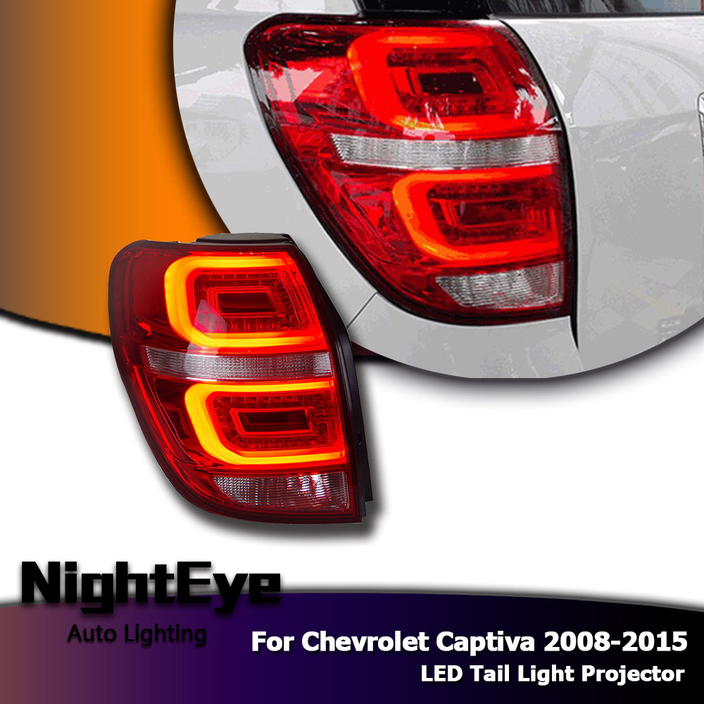 NightEye Car Styling for Chevrolet Captiva Tail Lights 2008-2015 Captiva LED Tail Light LED Rear Lamp DRL+Brake+Park+Signal