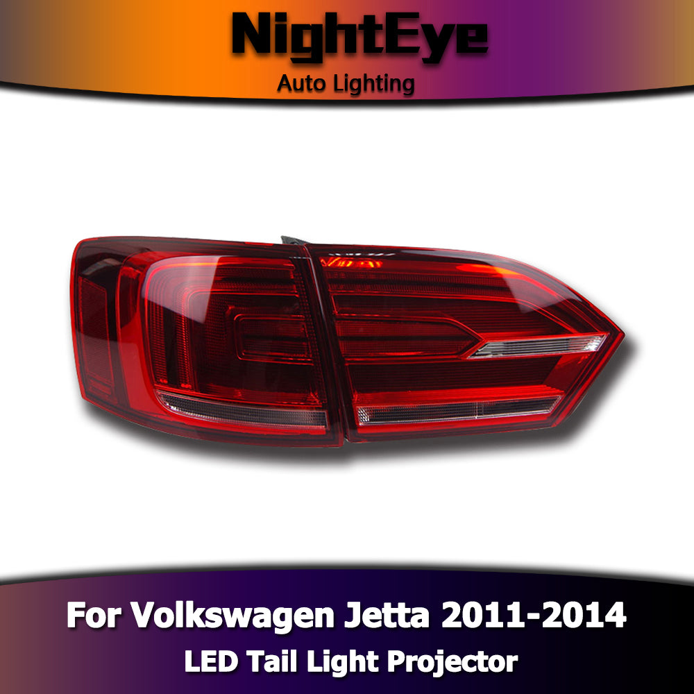NightEye Car Styling for VW Jetta MK6 Tail Lights North America Design Jetta LED Tail Light Rear Lamp DRL+Brake+Park+Signal