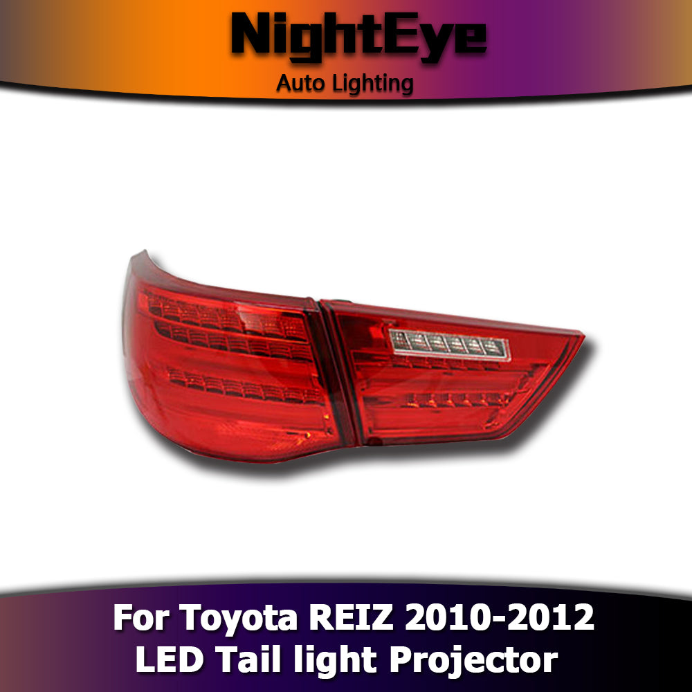 NightEye Car Styling for Toyota Reiz Tail Lights 2010-2012 Mark X LED Tail Light Rear Lamp DRL+Brake+Park+Signal
