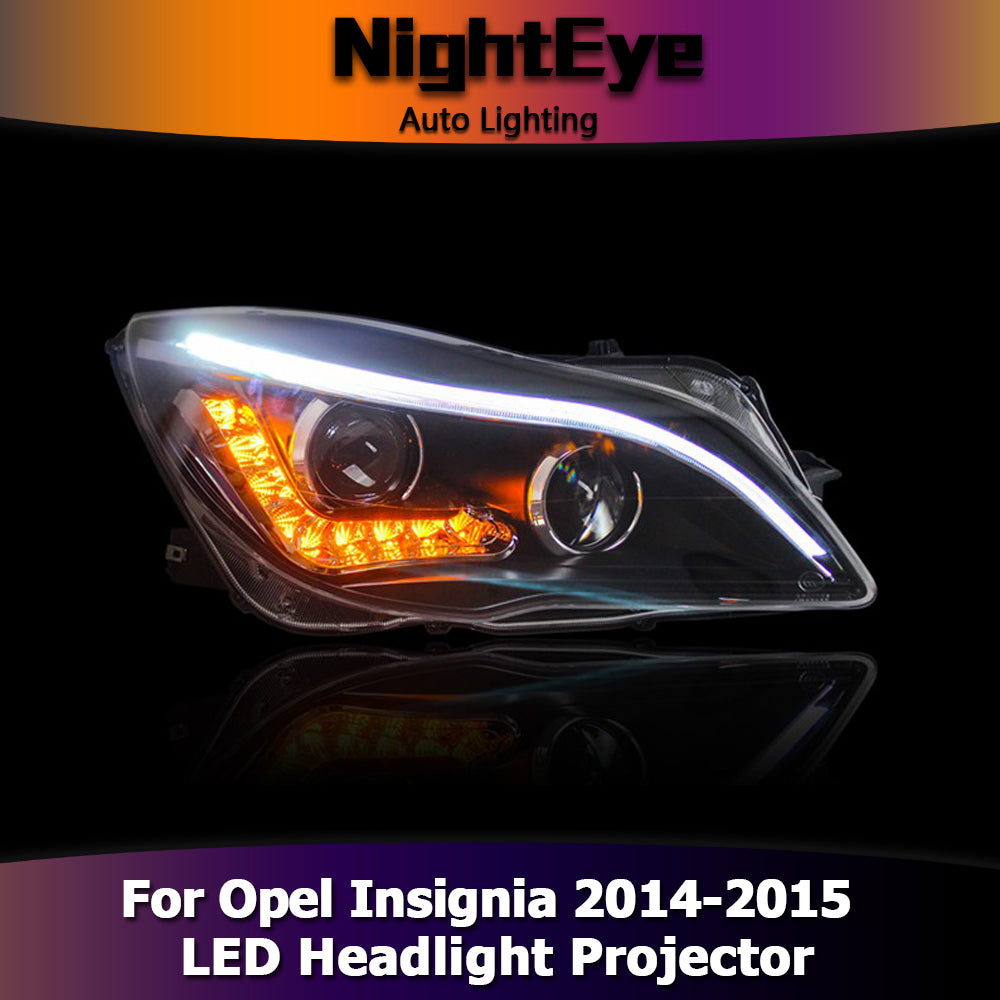 NightEye Car Styling for Opel Insignia Headlights 2014-2015 Insignia LED Headlight DRL Bi Xenon Lens High Low Beam Parking Fog Lamp