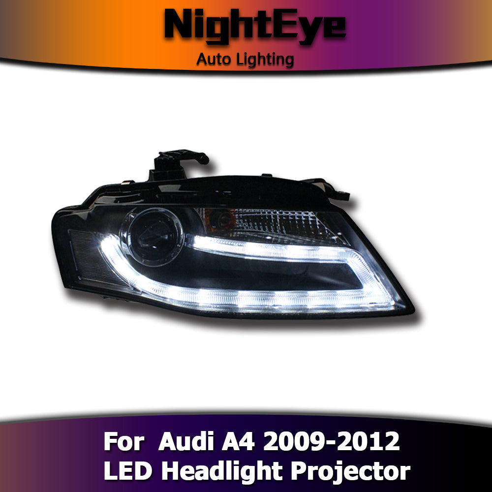 NightEye Audi A4 B8 Headlights 2009-2012 A4L LED Headlight