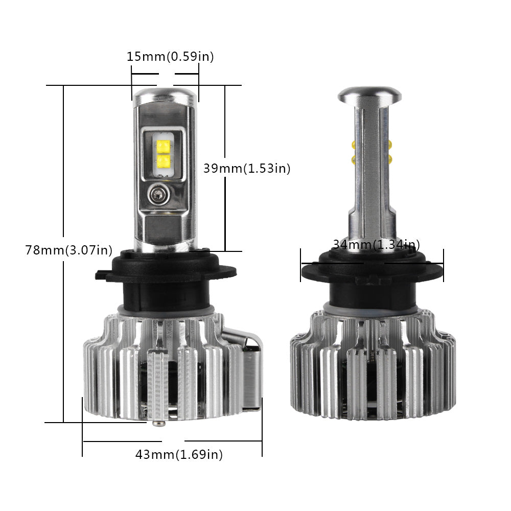 2016 NIGHTEYE 9000LM 70W 6000K Car LED Headlights CREE Lumileds CSP LED Chips H7