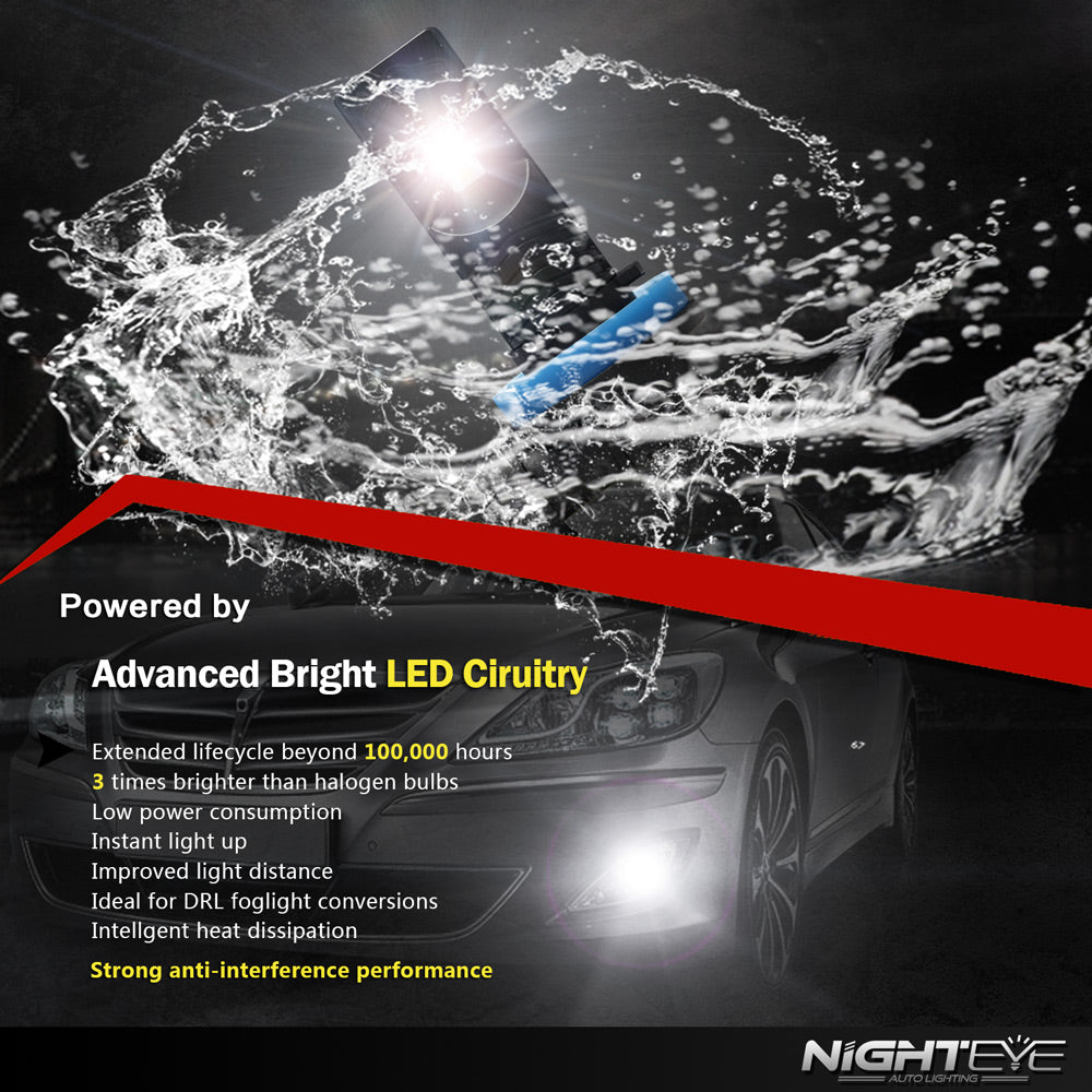 NIGHTEYE A338 1600LM Fog Light H11