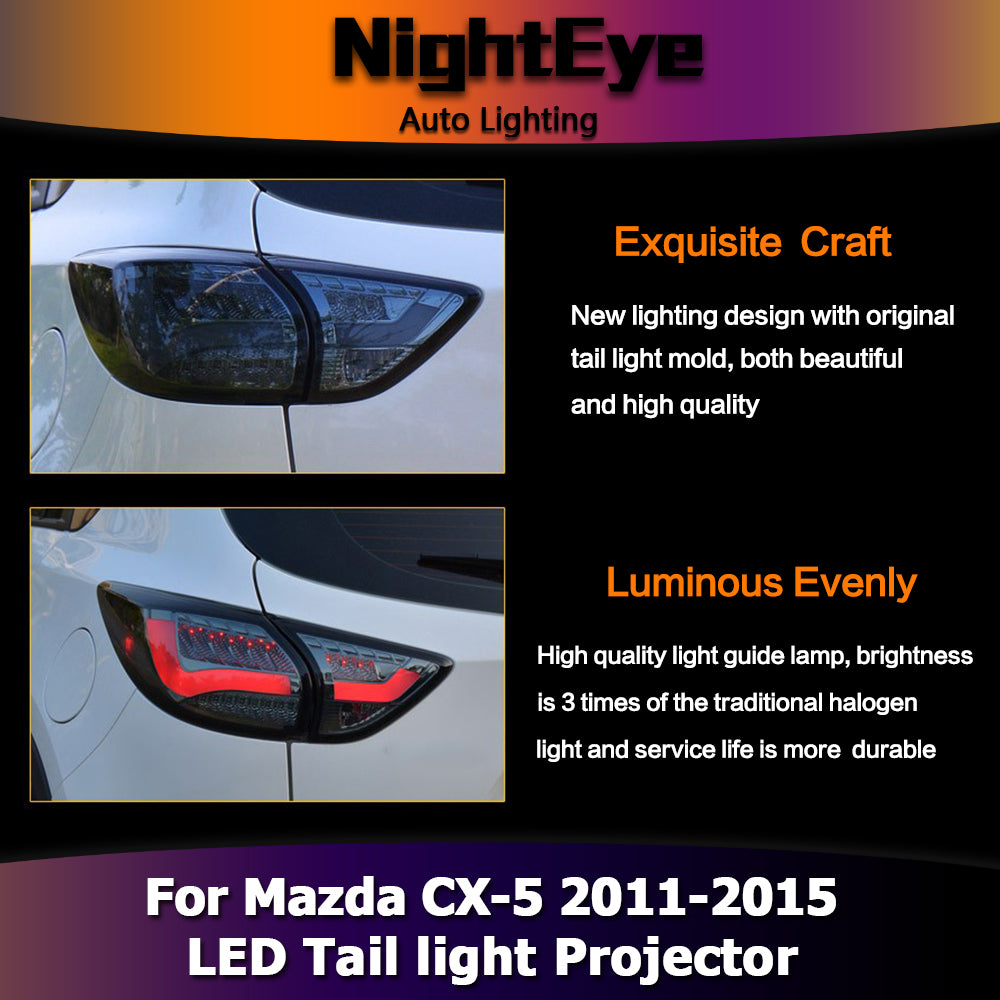 NightEye One-Stop Shopping Styling for Mazda CX-5 Tail Lights Taiwan Sonar Mazda CX-5 LED Tail Light Rear Lamp DRL+Brake+Park+Signal