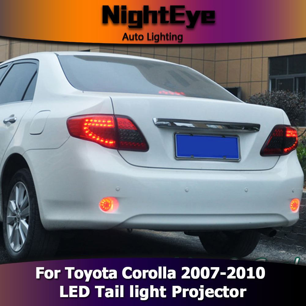 NightEye Car Styling for Toyota Corolla Tail Lights 2007-2010 Corolla LED Tail Light Altis LED Rear Lamp DRL+Brake+Park+Signal