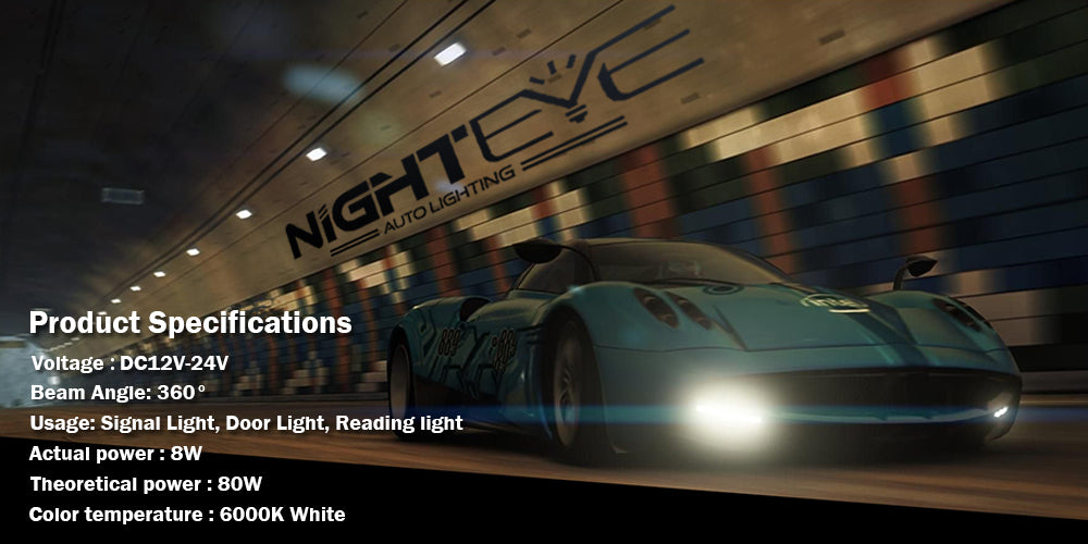 2016 NIGHTEYE Car-styling A Pair of Car 9 LED Fog Lights Bright White Lamps Left & Rights H1
