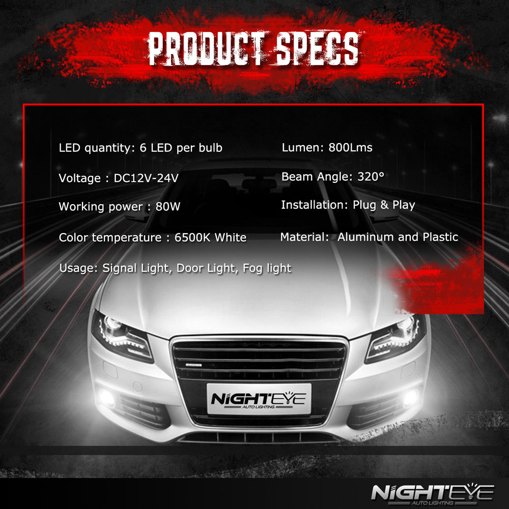 NIGHTEYE A338 1600LM Fog Light 9006