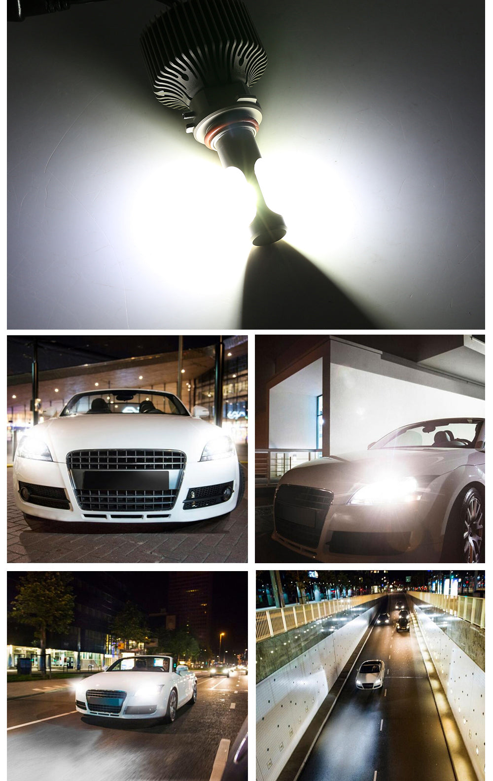 NIGHTEYE 60W 9000LM 9006 HB4 LED Headlight Kit Car Driving Bulbs White US STOCK
