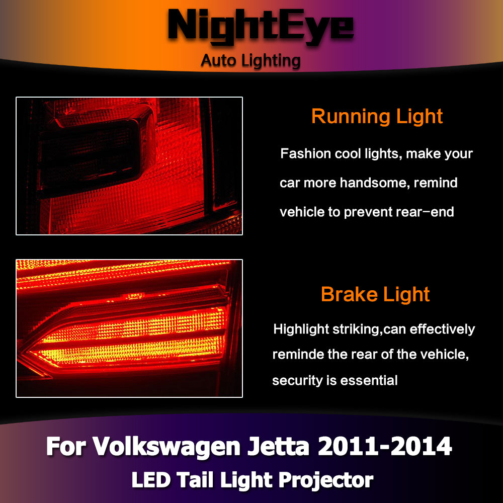 ... NightEye Car Styling For VW Jetta MK6 Tail Lights North America Design  Jetta LED Tail Light ...