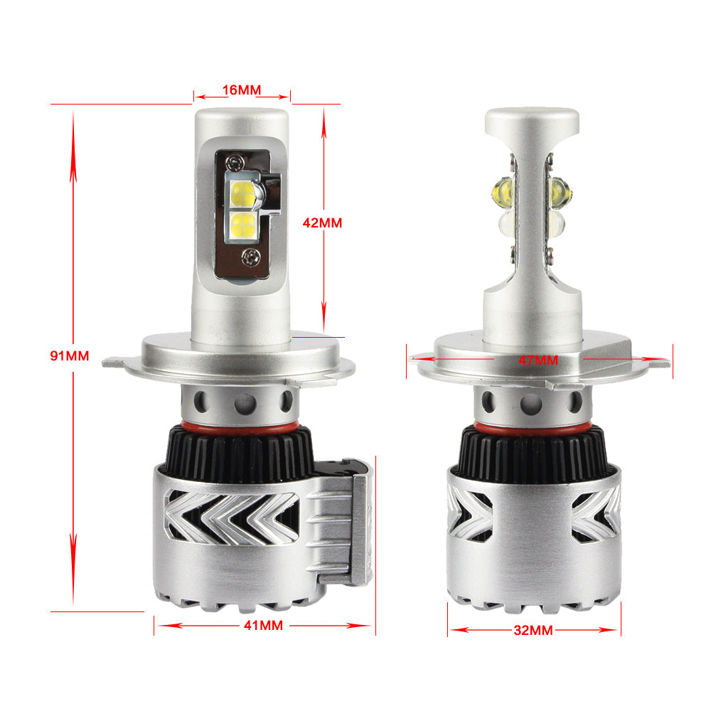 Nighteye 2x 12000LM H4 LED Car Driving Fog HeadLight Bulb Light Lamp White