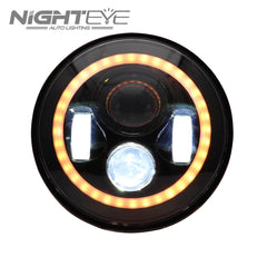 1 Sets Nighteye Bradn 60W Hi/Low Beam LED Headlamp with high-brightness CREE LED Beads For Harley Jeep