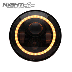 1 Sets Nighteye Bradn 60W Hi/Low Beam LED Headlamp with angel eyes For Harley Jeep - NIGHTEYE AUTO LIGHTING