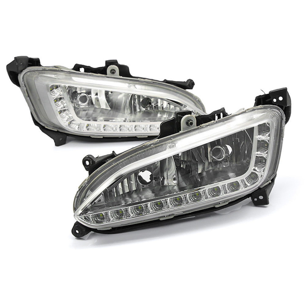 Car LED Daytime Running light DRL Fog Light For Hyundai ix45 2013