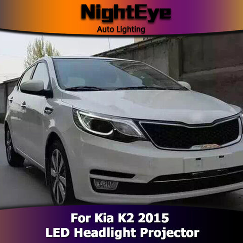 NightEye Kia K2 Headlights 2015 New K2 Rio LED Headlight High Beam Parking Fog Lamp