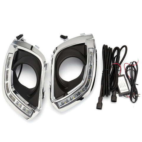 Car LED Daytime Running light DRL Fog Light For OPEL ANTARA 2011-2016