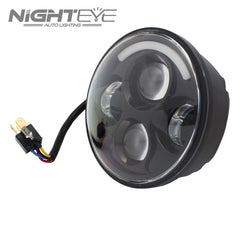 1 Set NIGHTEYE Brand 7inch  60W Hi/Low Beam LED Headlamp with 1/4 aperture for Harley Jeep - NIGHTEYE AUTO LIGHTING