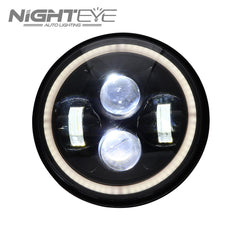 1 Set NIGHTEYE Brand 7inch  60W Hi/Low Beam LED Headlamp with large aperture for Harley Jeep - NIGHTEYE AUTO LIGHTING