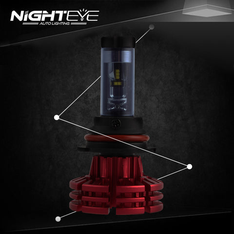 NIGHTEYE A344 Philip 60W 10000LM 9007 LED Car Headlight