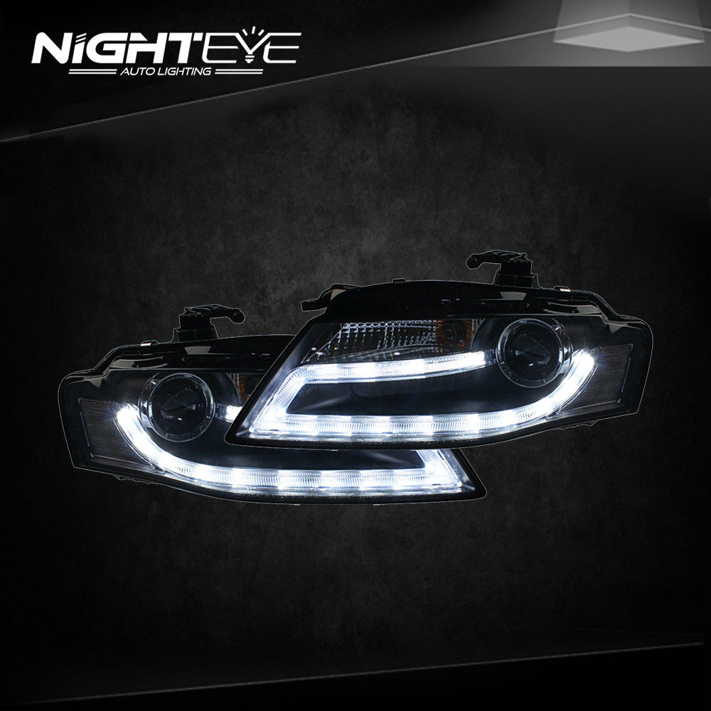 nighteye audi a4 b8 headlights 2009 2012 a4l led headlight. Black Bedroom Furniture Sets. Home Design Ideas