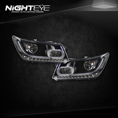 NightEye Dodge Journey Headlights 2008-2015 New JCUV LED Headlight