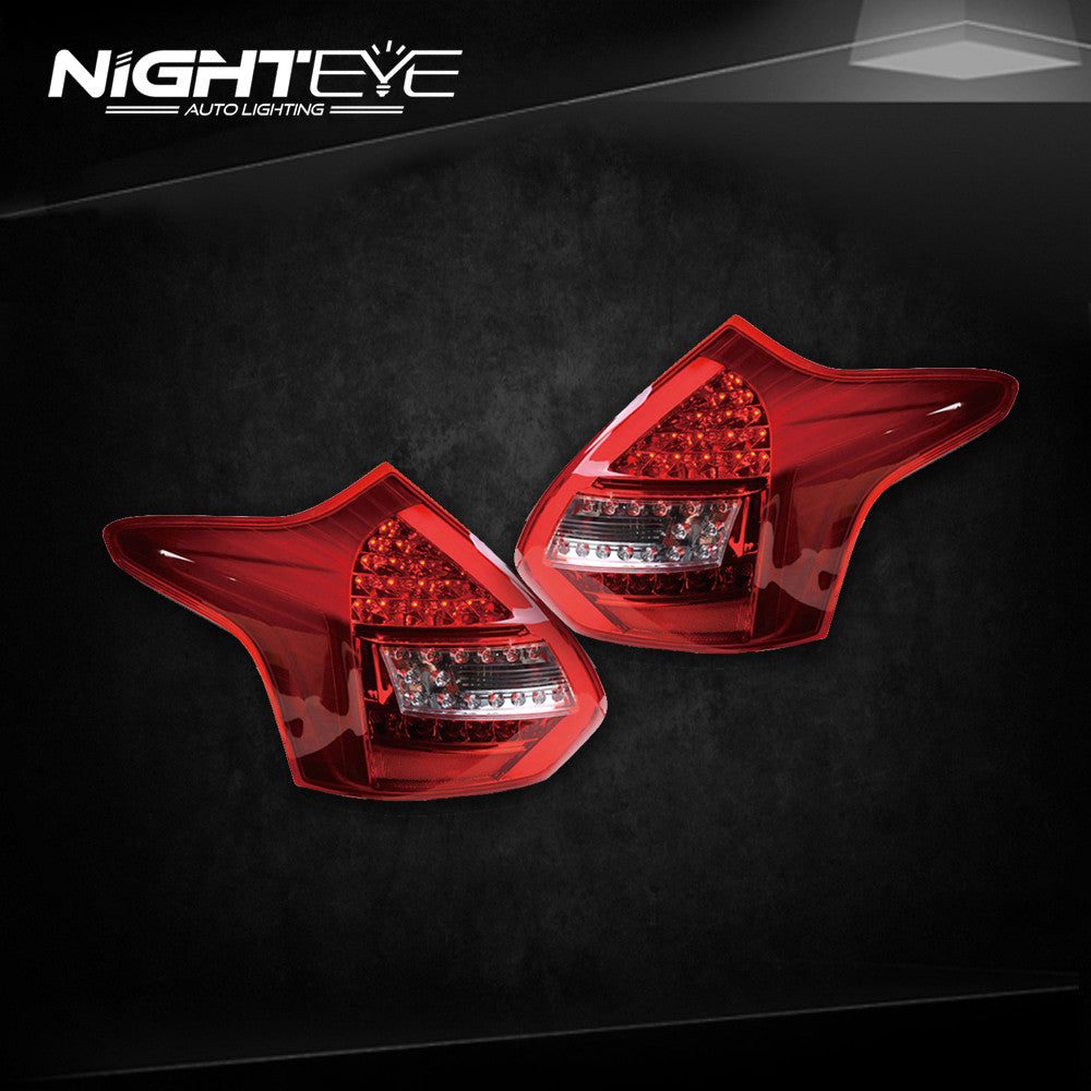NightEye Ford Focus 3 Tail Lights 2012-2014 Focus Hatch Back LED Tail Light