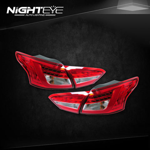 NightEye Ford Focus 3 Tail Lights 2012-2014 New Focus Sedan LED Tail Light