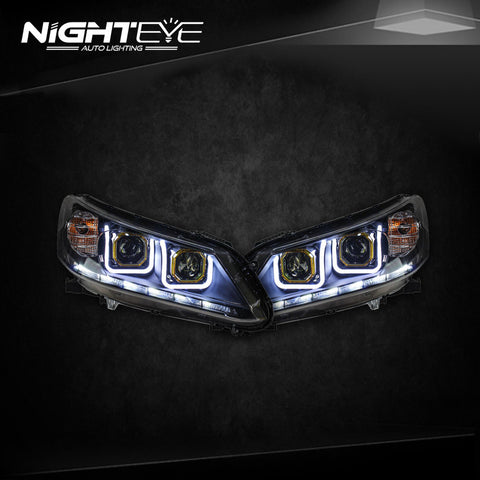 NightEye Honda Accord Headlights 2014-2015 New Accord 9 LED Headlight