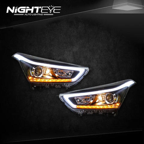 NightEye Hyundai Creta Headlights 2014-2015 IX25 LED Headlight