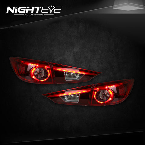 NightEye Mazda 3 Tail Lights 2015 New Mazda3 Axela LED Tail Light